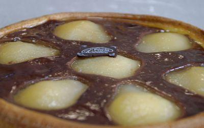 Tarte amandine aux poires  et chocolat