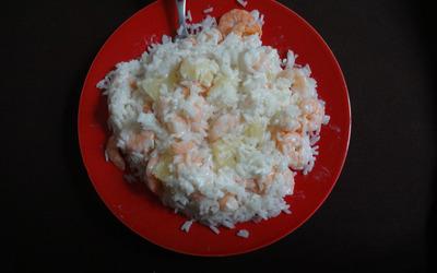 Riz ananas-crevettes