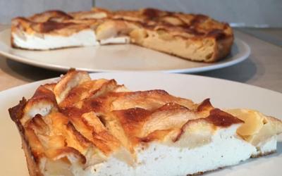 Gâteau de fromage blanc aux pommes N°2