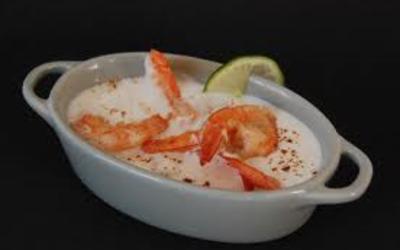 Crevettes au lait de coco et gingembre