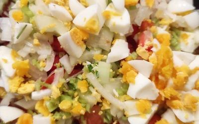 Salade composée Martiniquaise