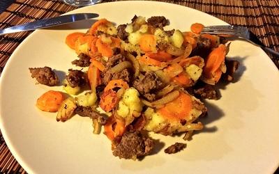 Boulettes de viande hachée & légumes