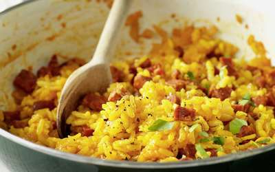 Riz frit au chorizo (spécial hangover)