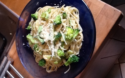 Pâtes aux légumes verts et au Pesto
