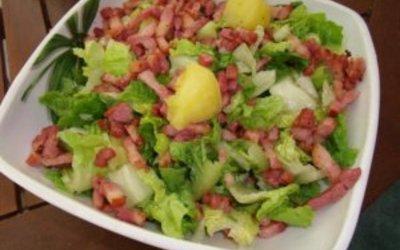 "salade  chaude ""campagnarde"" de mon chéri"