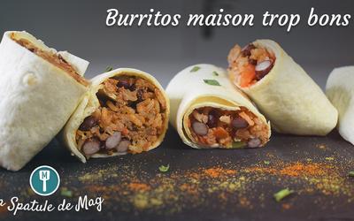 Burritos à la viande hachée OU  végétarien !