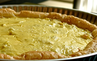 Tarte aux poireaux curry-miel