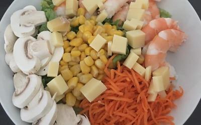 Salade aux gambas