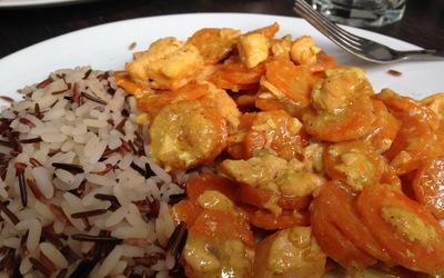 Curry Coco de saumon et carottes
