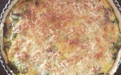 Tarte aux poireaux et au saumon