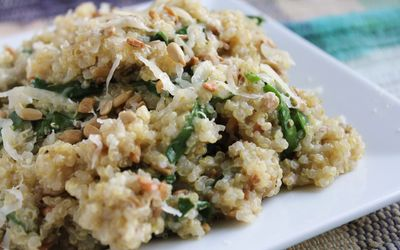 Quinoa épinard-chèvre-miel
