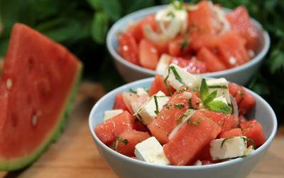 Salade pastèque tomate feta