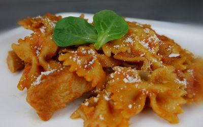 One-pot-pasta poulet-tomates-courgettes