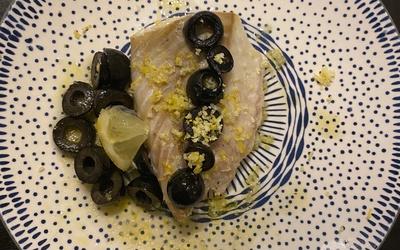 Filet de lieu noir aux olives et au citron