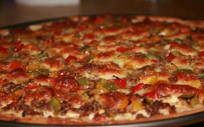 Pizza avec les restes du frigo