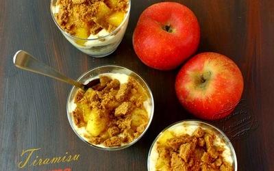 tiramisù d'automne aux spéculoos et pommes, poires