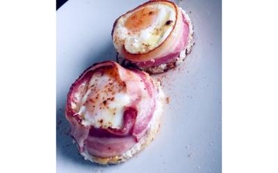 Oeuf cocotte en bacon