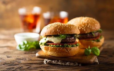 Burger au pesto