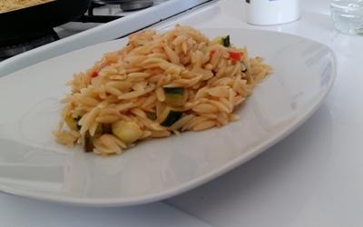 Risotto de pâtes aux légumes