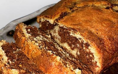 ~ Cake marbré ultra moelleux 💛🤎