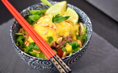salade de boeuf à la mangue