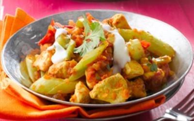 Curry aux deux légumes et poulet