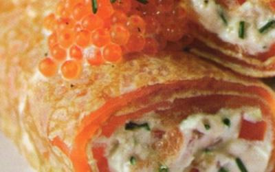 Crêpes  au saumon