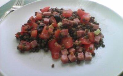 Salade complète de lentilles
