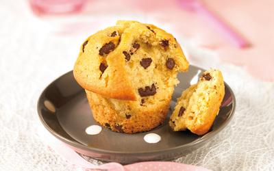Muffins aux raisins ou aux pépites