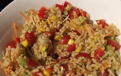 Salade de perles de blé.