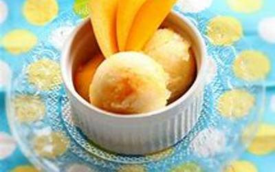 glace à l'orange express sans sorbetière