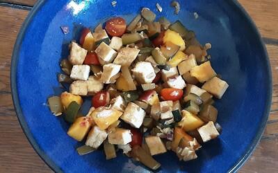 Salade d'été à la nectarine