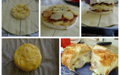 Feuilleté au Camembert, Lardons et Pommes de Terre