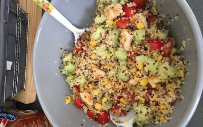 Salade de quinoa au poulet :)
