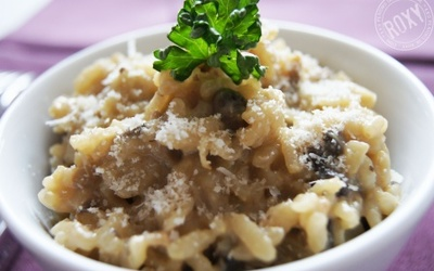 Risotto simple aux champignons