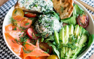 salade de saumon ( Noel healthy)