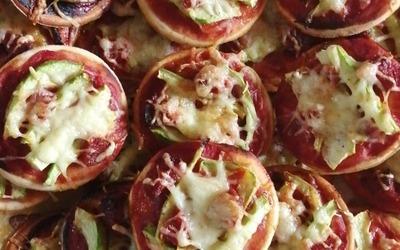 Pizza courgette chorizo