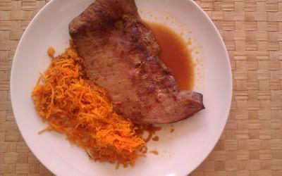 Foie de veau aux carottes