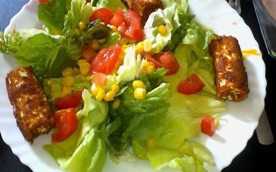 Salade chèvre spéculos