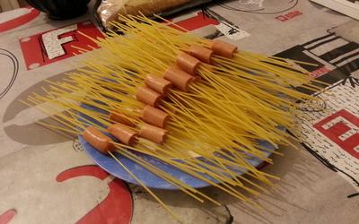 Spaghettis knackis originaux