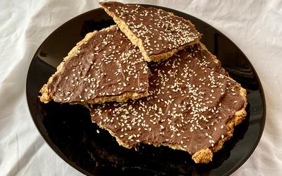 Croquant au chocolat et tahini