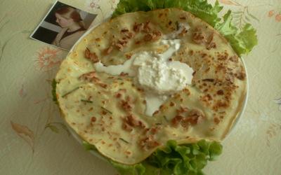 Tortilla au thon et au chèvre