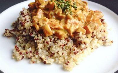 Légumes lait de coco curry et Quinoa
