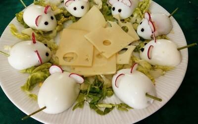 Entrée originale aux oeufs durs et au fromage