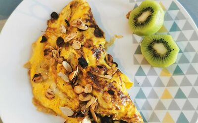 Omelette  paléo sucrée