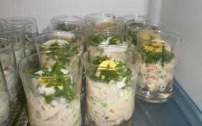 verrines de macédoine de légumes