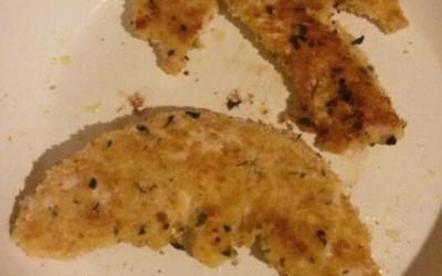 Escalope pané parmesan-basilic