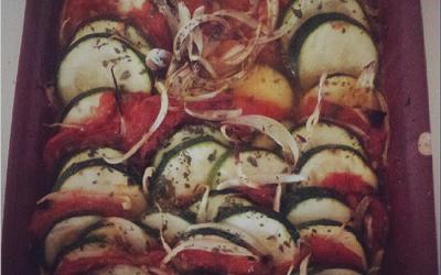 Gratin de courgettes à la tomate