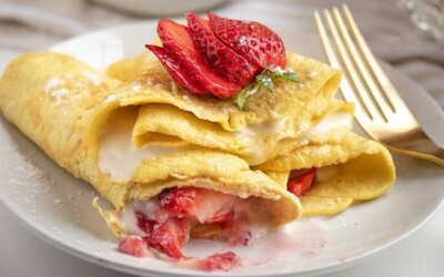 Crêpes express fromage blanc et fraises