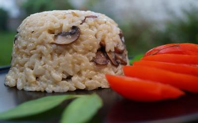 Risotto aux champignons (Vegan)